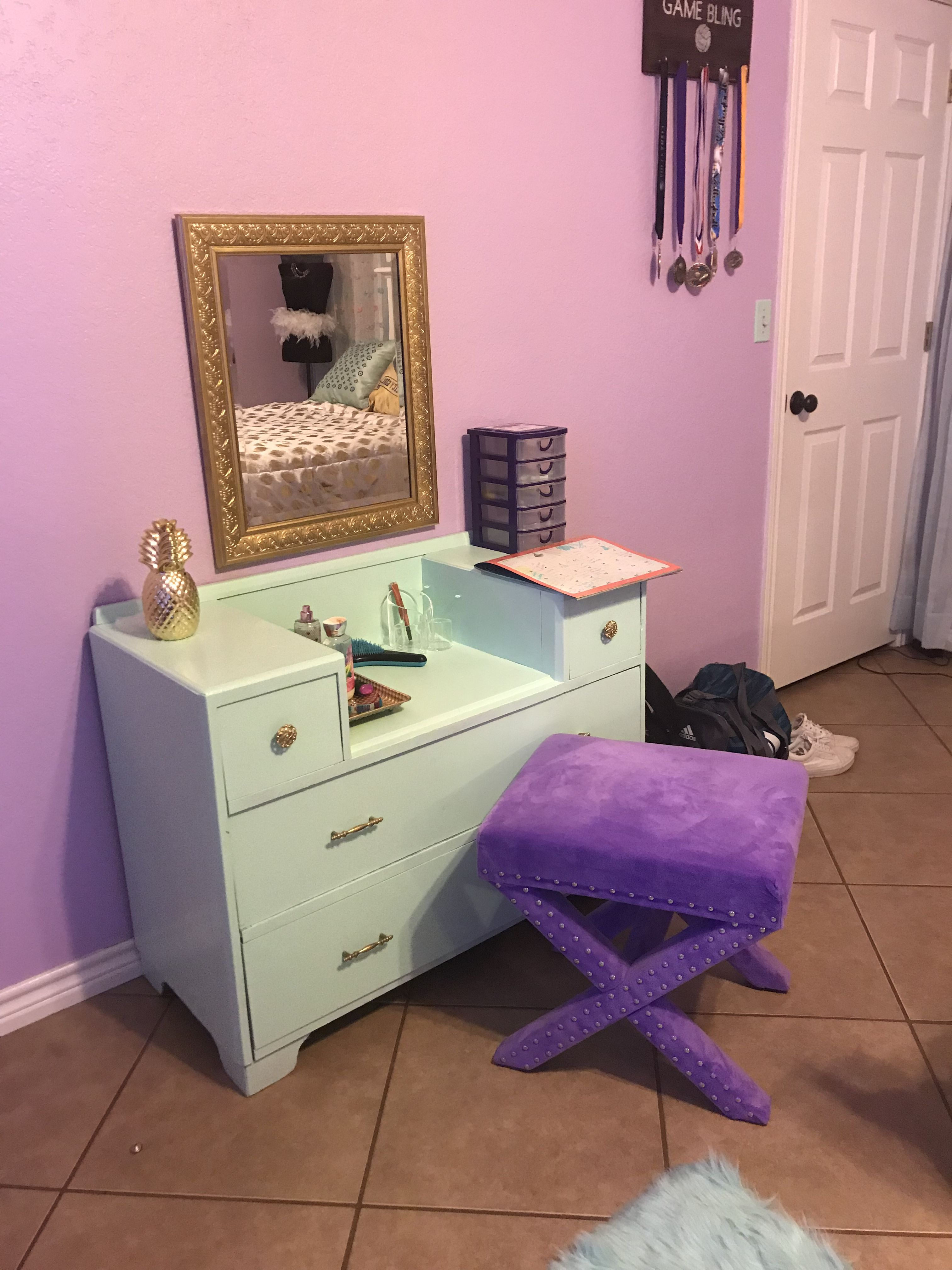 teen girl bedroom colors lavender purple gold and mint style rh pinterest com