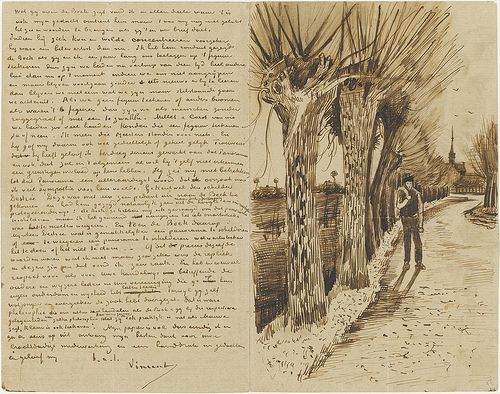 the van gogh letter sketches in many things but more particularly in drawing