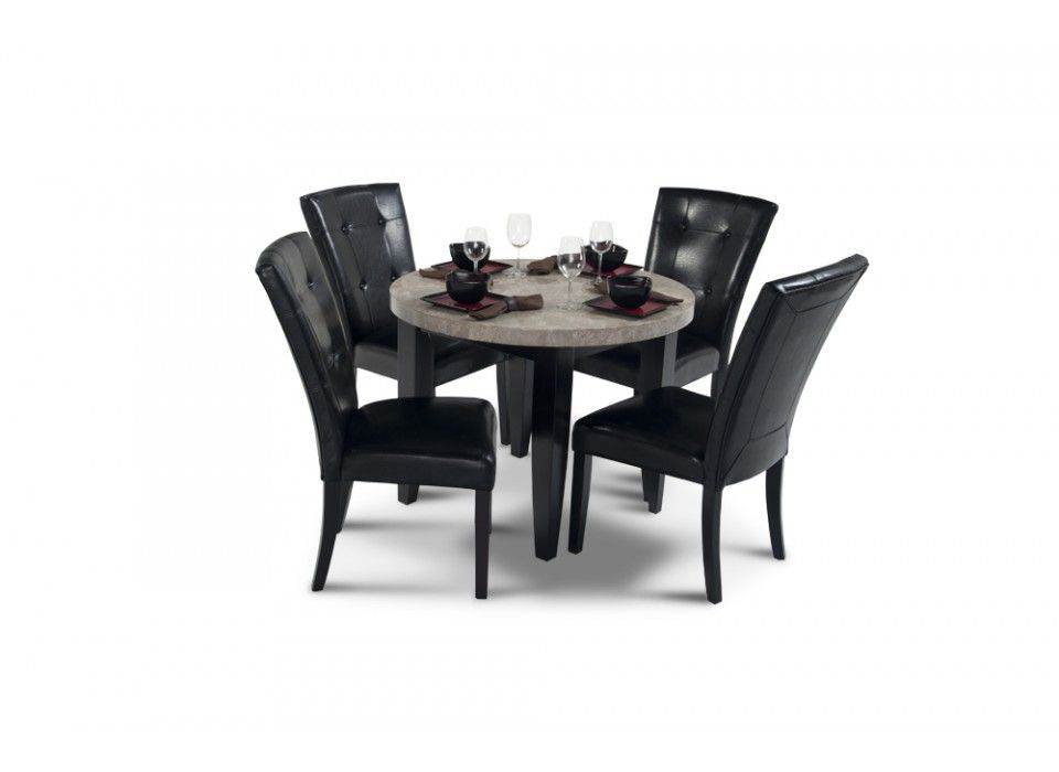 Montibello 40 Round Dining 5 Piece Set Round Dining Room Living Room Sets Furniture Dining Room Sets