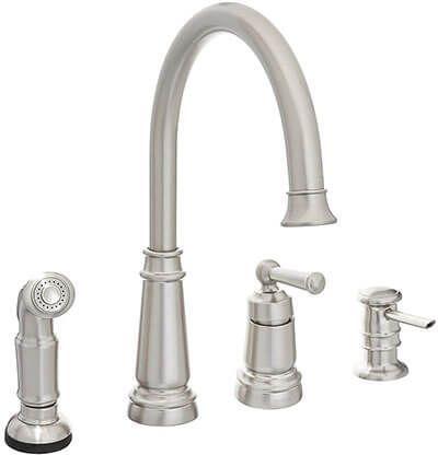 moen single handle kitchen faucet whitesinglehandlekitchenfaucet rh pinterest com