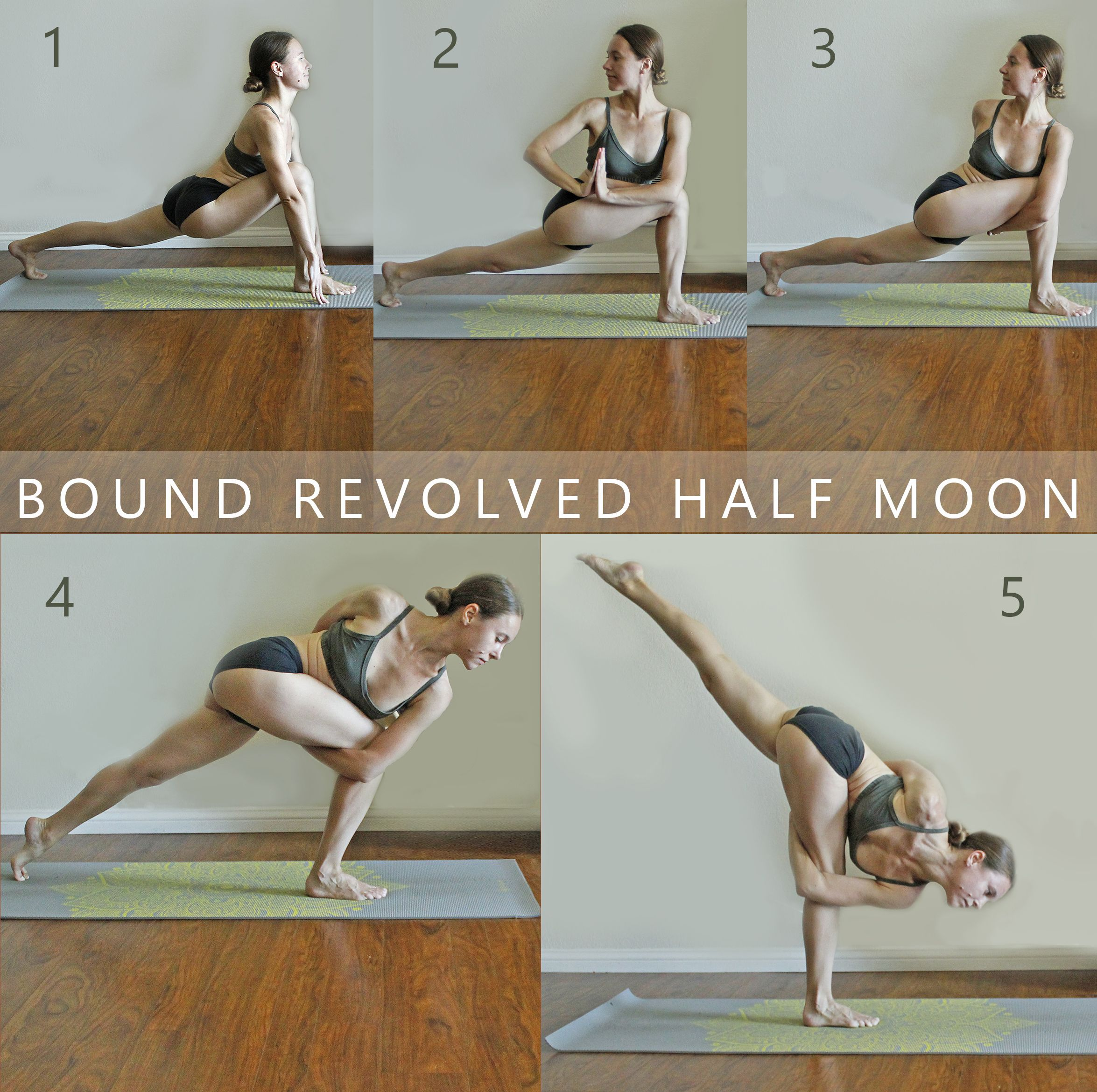 Revolved Half Moon Prep Poses