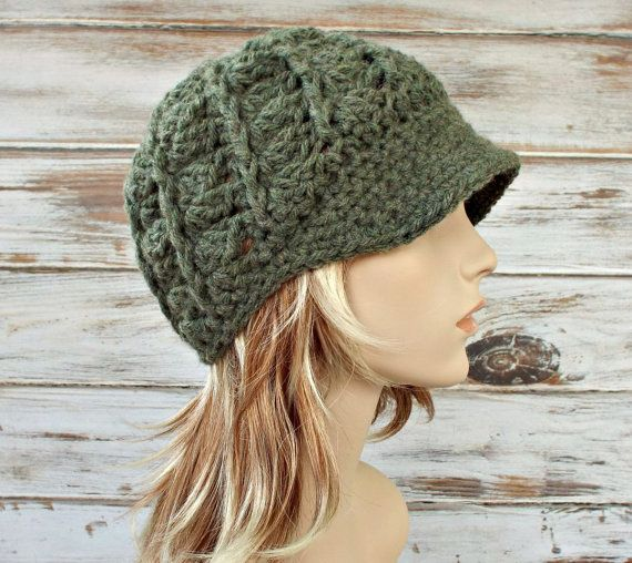 Instant Download Crochet Pattern - Womens Beanie Pattern - Crochet ...