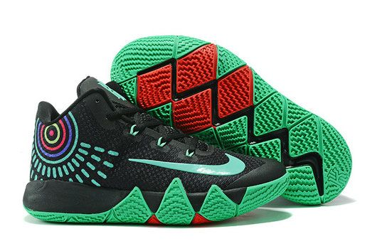 pretty nice 06283 a5d01 Cool Nike Zoom Kyrie 4 Black Green Kyrie Irving 4 For Cheap NBA Basketball  Shoe For Cheap