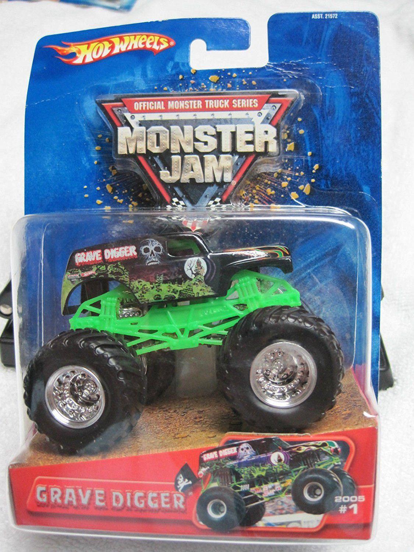 amazon com hot wheels monster jam 1 64 scale 2005 release grave rh pinterest com
