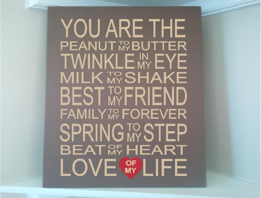 Beautiful 8x10 wooden board sign with quote