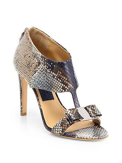 Salvatore Ferragamo - Pella Python Sandals - Saks.com   Sapatos ... 408f2369e1