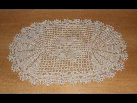 Tapete deise de croch oval em barbante parte 1 crochet for Tapetes de ganchillo