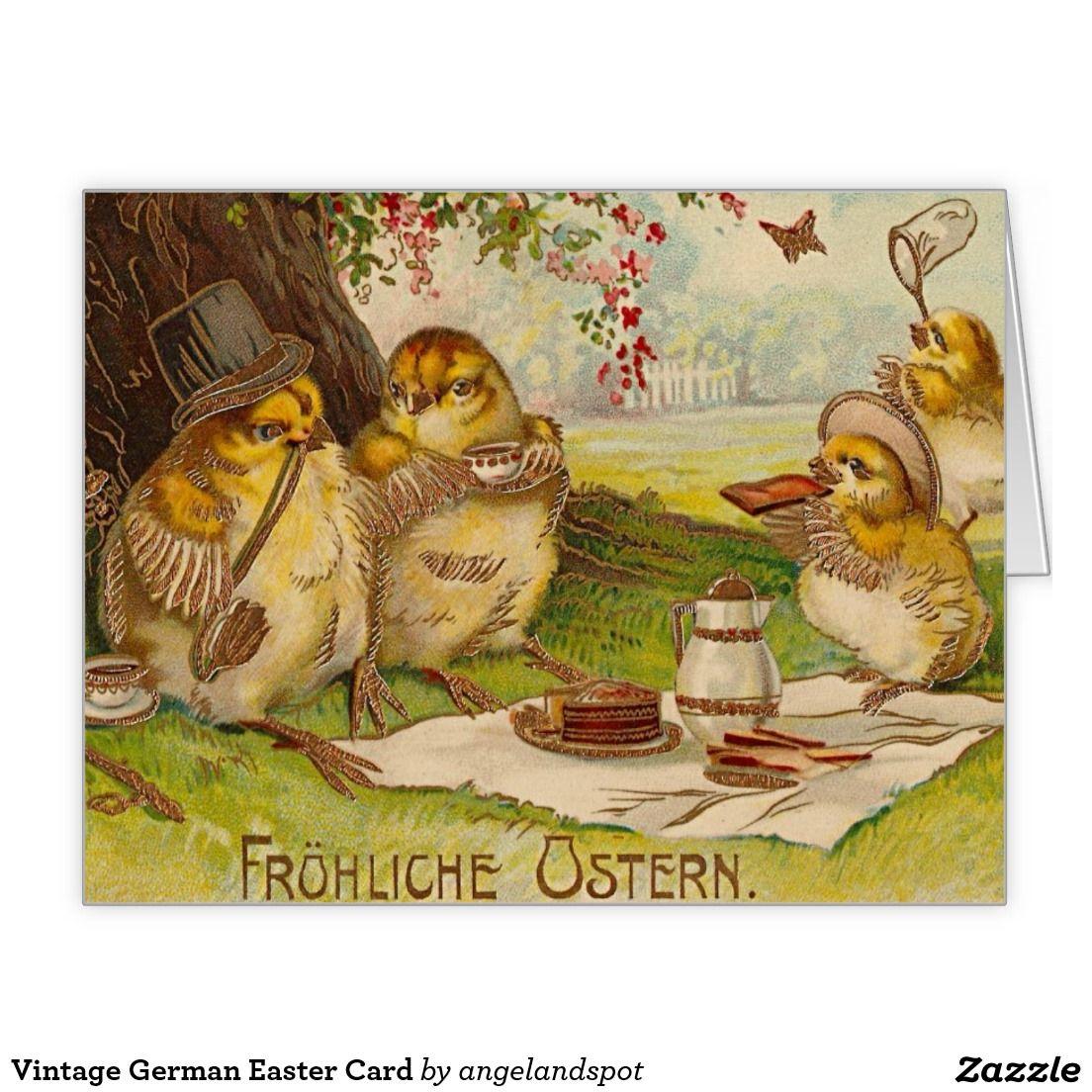 Vintage German Easter Card German Easter Pinterest Easter Card