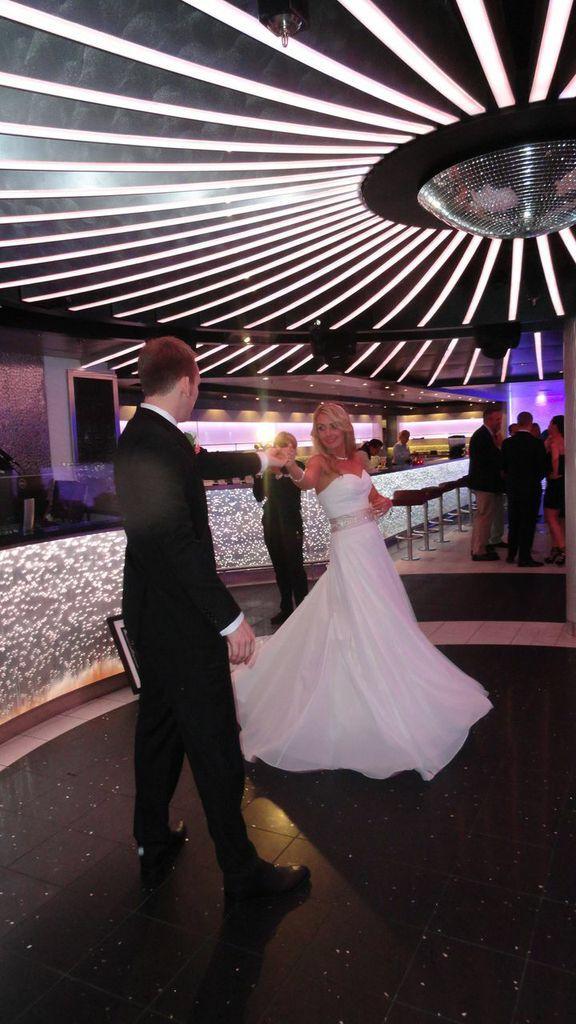 Cruise wedding carnival breeze liquid first