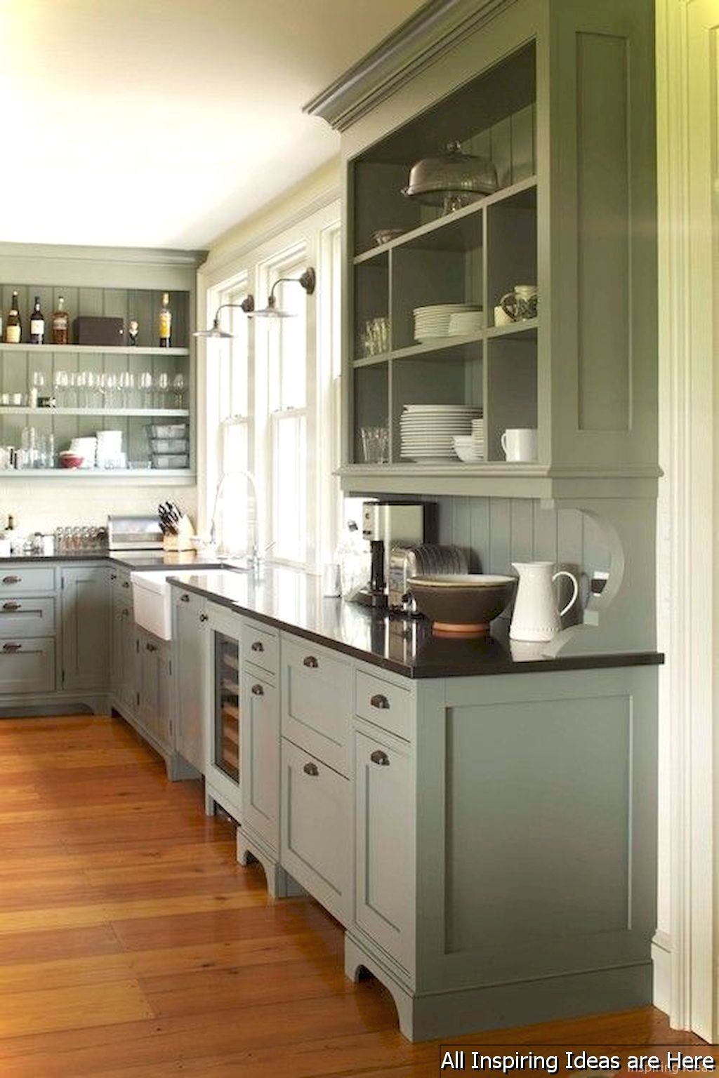 Nice 80 Awesome Modern Farmhouse Kitchen Cabinets