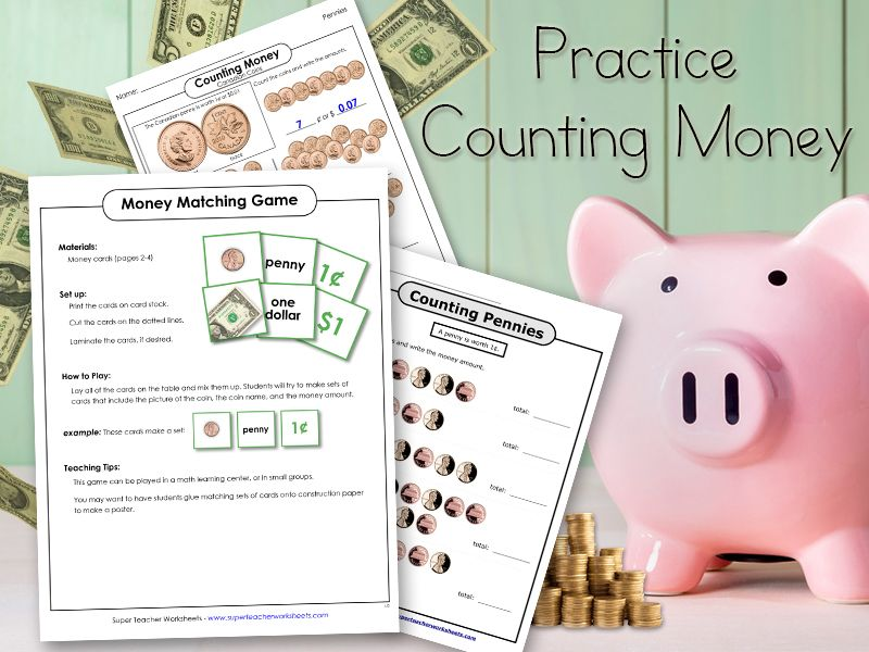 Cha-Ching! #SuperTeacherWorksheets has quality resources for ...