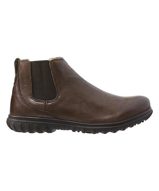 Mocha Eugene Waterproof Leather Boot - Men