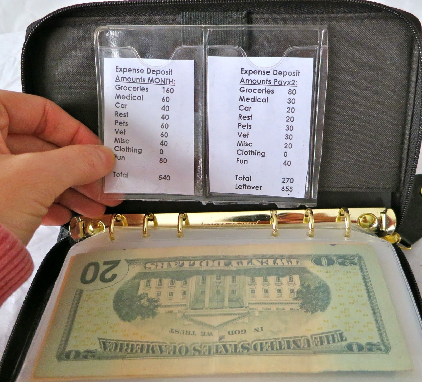 a look at my filofax budget envelope system finance budgeting