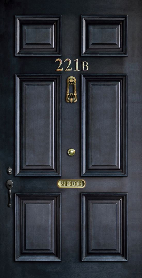 Merveilleux Classic Old Sherlock Holmes 221b Door IPhone 4 4s 5 5c, Ipod, Ipad, Tshirt,  Mugs And Pillow Case Art Print