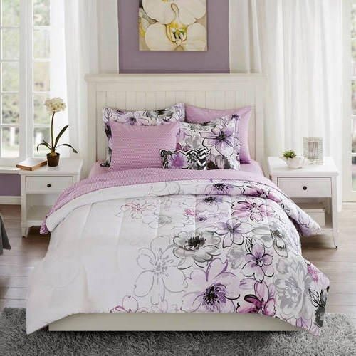 purple watercolor floral comforter set full sheets charming orchid rh pinterest co uk