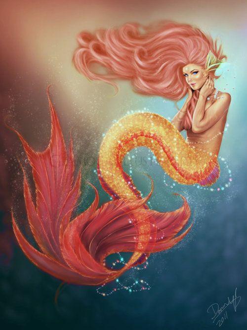 Mermaids art tumblr buscar con google mermaids for Mermaid tattoos pinterest