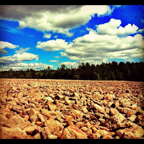 Places To Camp Pa: Boulder Field At Hickory Run State Park In White Haven, Pa