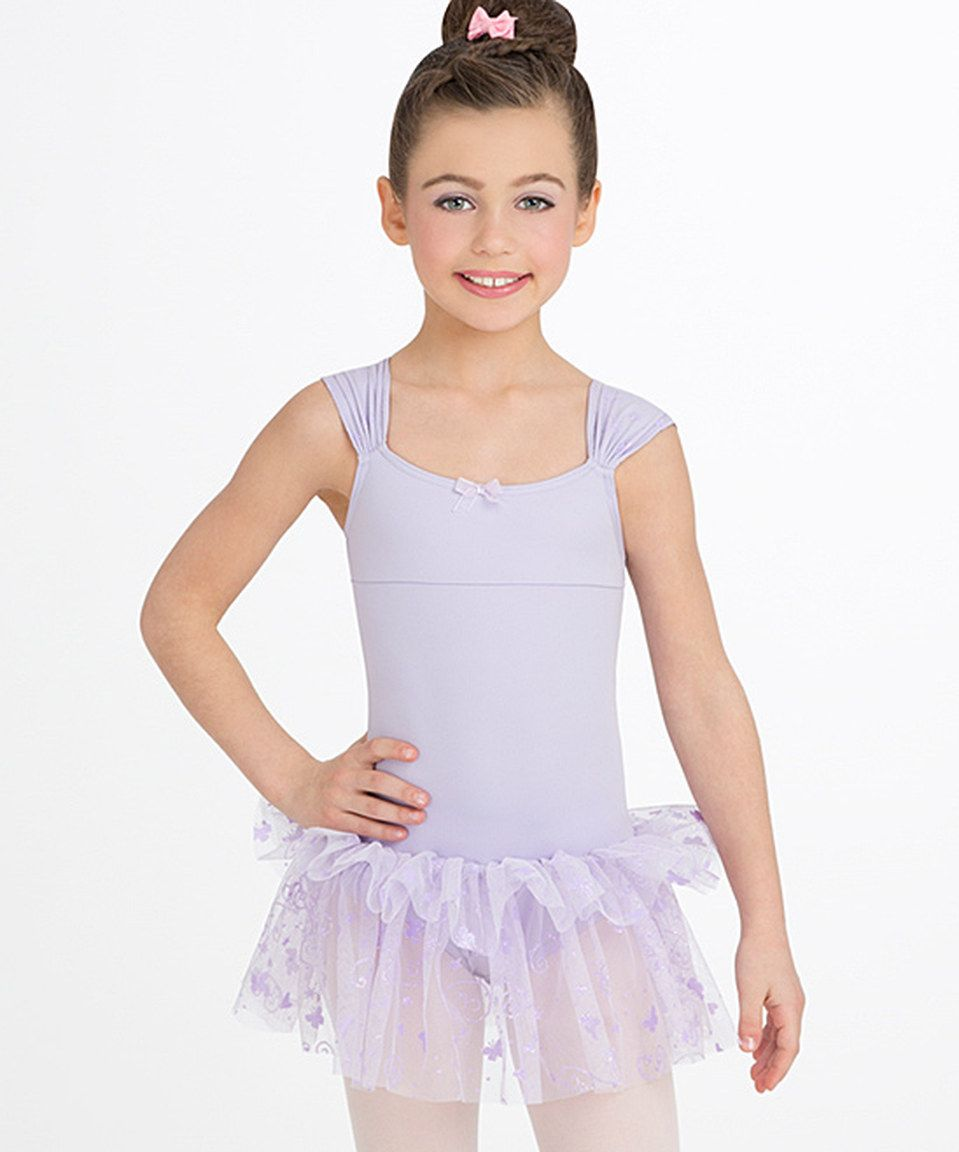 87236ab6a Another great find on  zulily! Lavender Cap-Sleeve Skirted Leotard ...