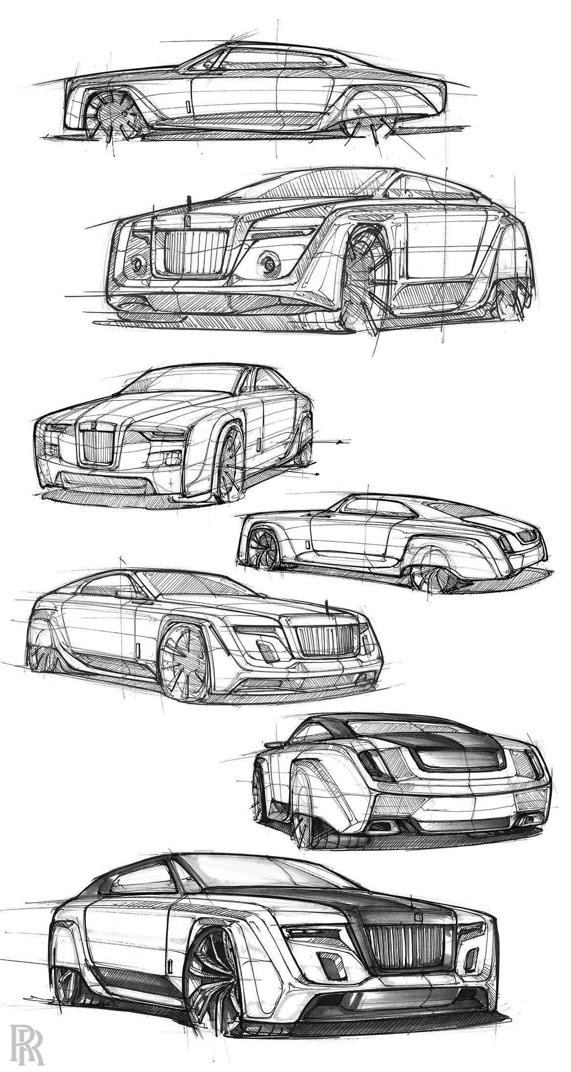 2050 Rolls Royce Phantom On Behance Car Drawings Futuristic Cars Design Car Design