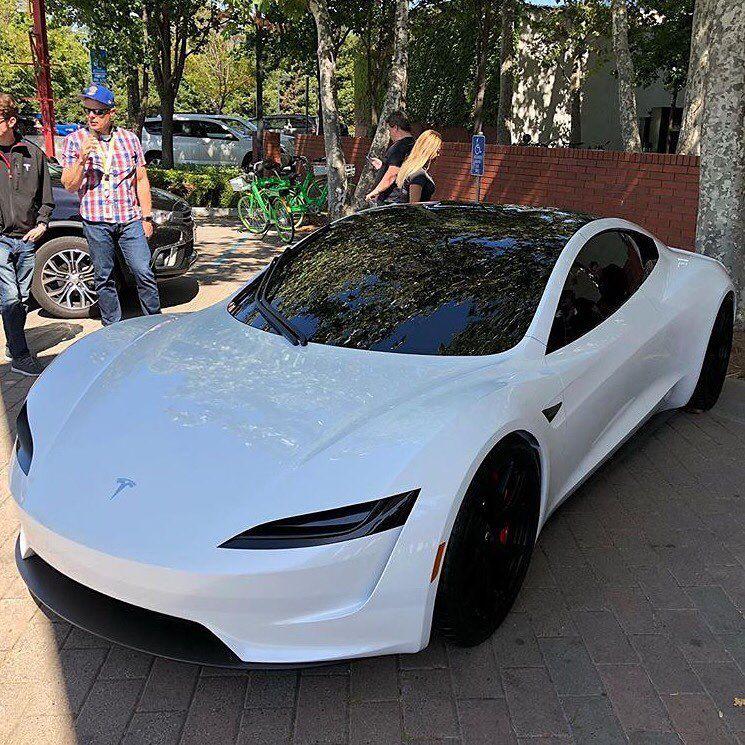 tesla roadster at the tesla shareholder meeting last week at rh pinterest com