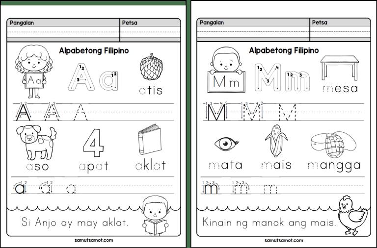 2019 Alpabetong Filipino Writing Sheets Samutsamot