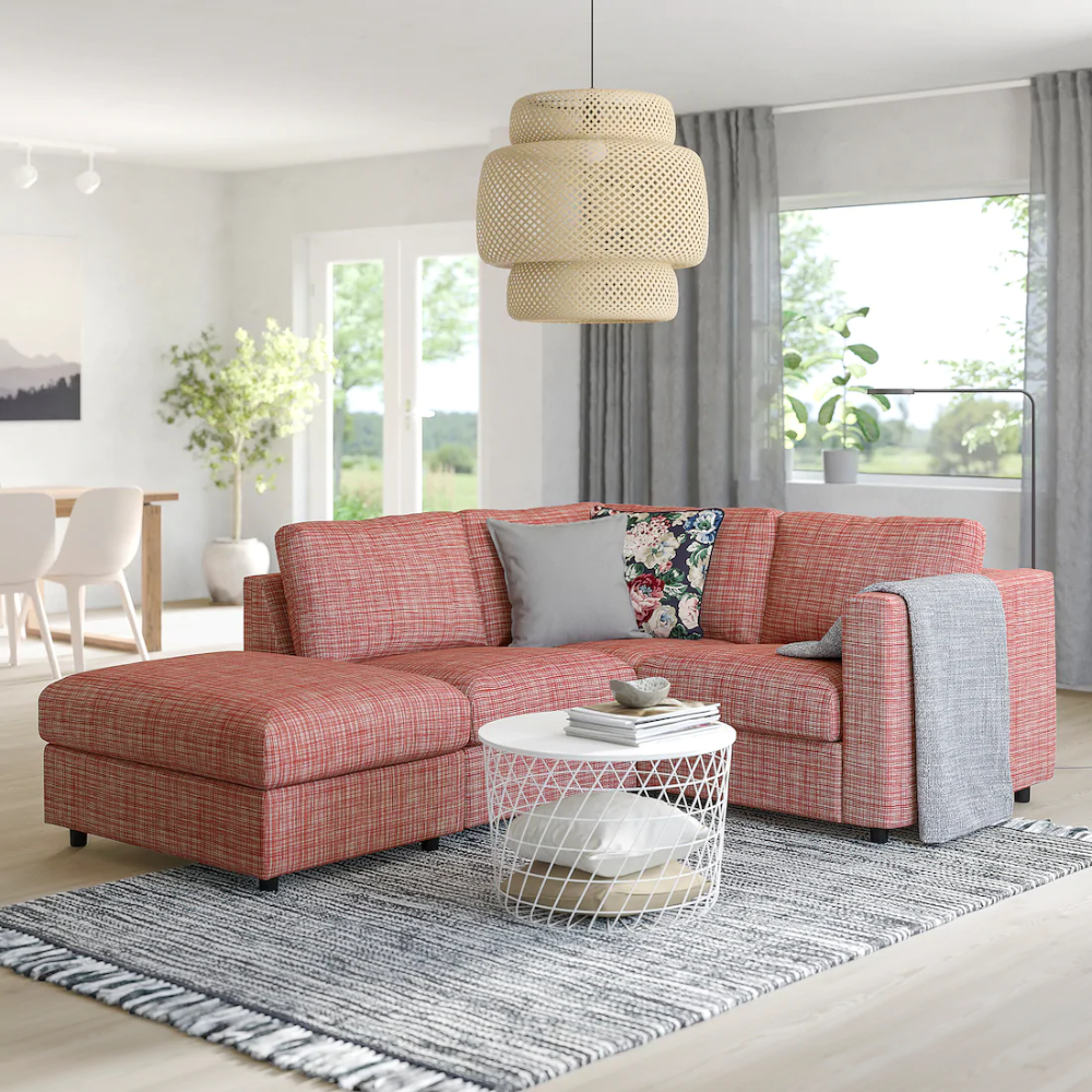VIMLE Corner sofa, 3seat with open end, Dalstorp