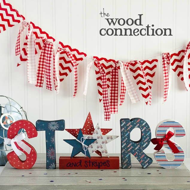 Diy Wood Letters Stars And Stripes 4th Of July Wood
