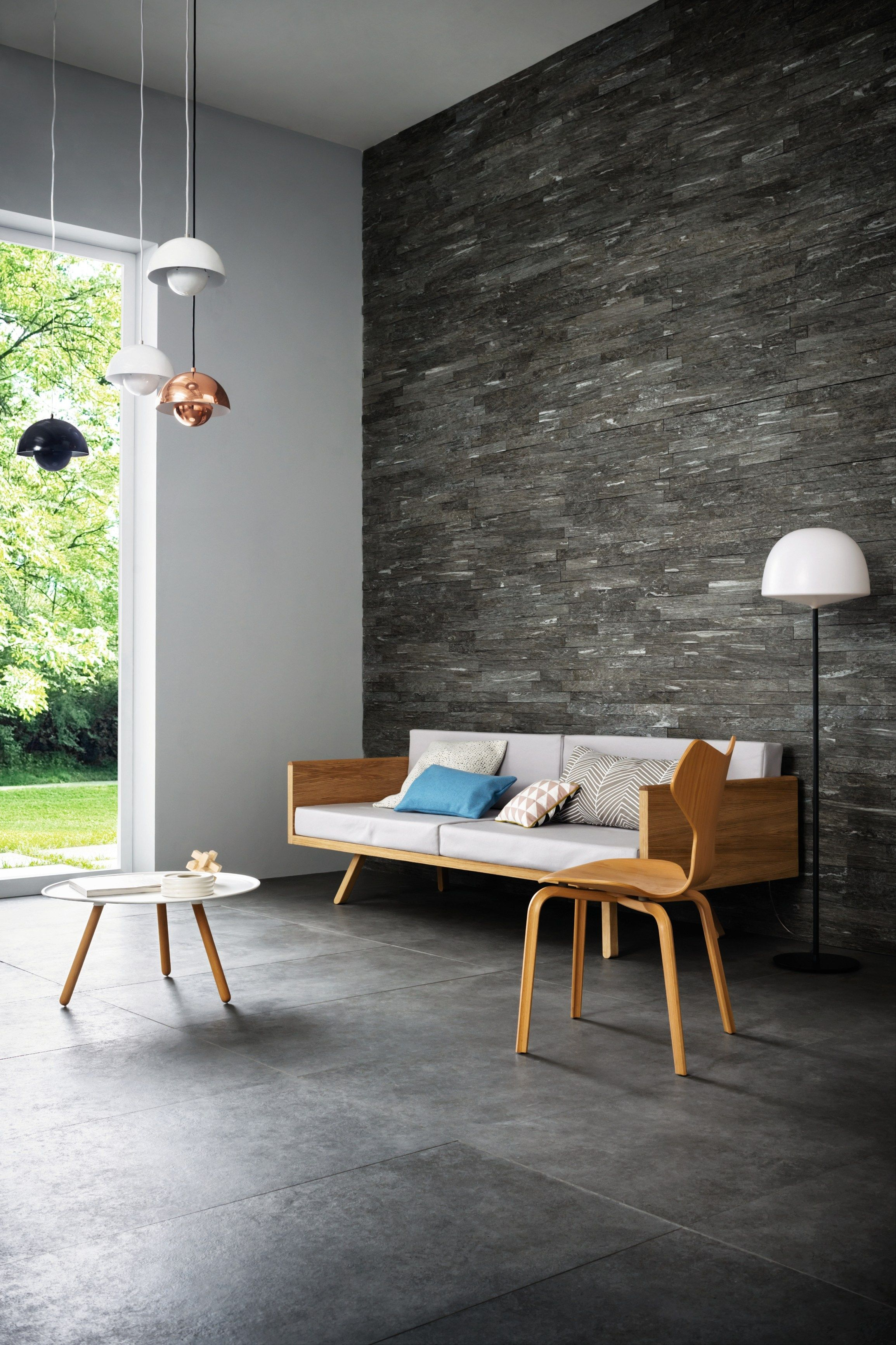 Porcelain stoneware wallfloor tiles MYSTONE SILVER STONE