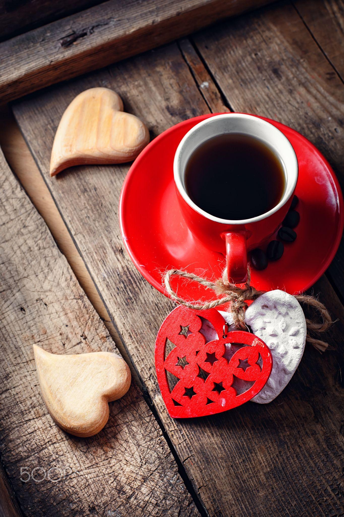Coffee on Valentine's day Boissons au café, Photos de