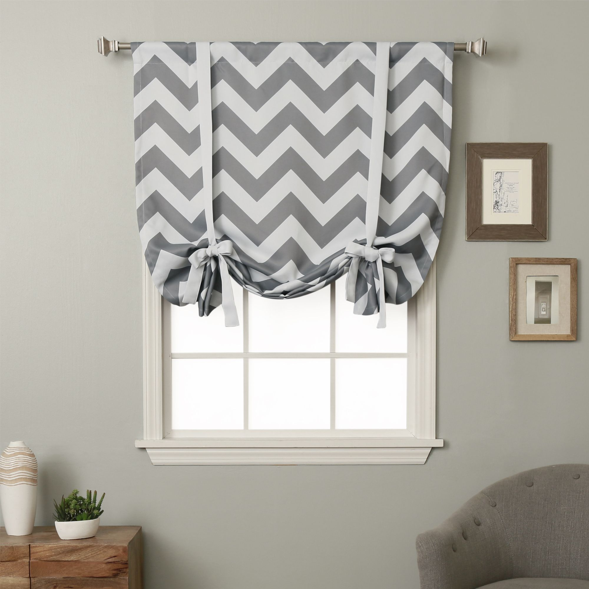 Dress any window in style with the Aurora Home 63-inch Chevron Print ...
