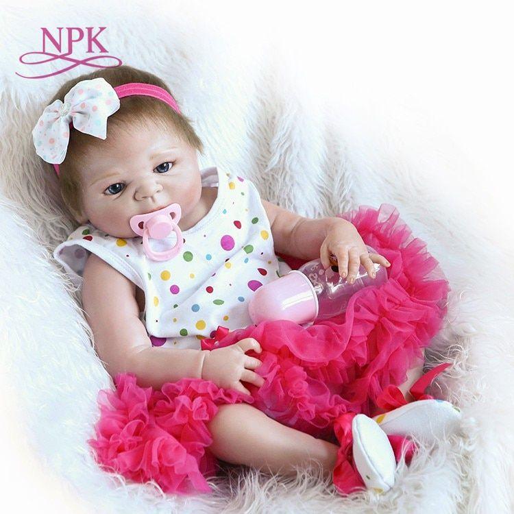 Npk 46 Cm Completo Bebe Artesanal Boneca De Silicone Bebes Reborn