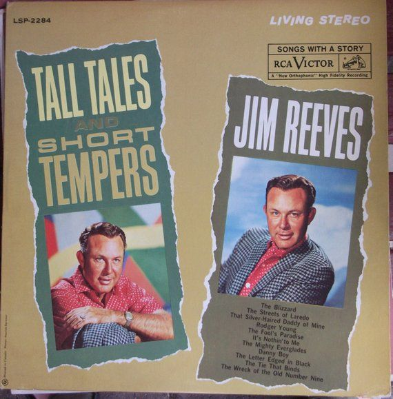 Jim Reeves, Tall Tales And Short Tempers, Vintage Record