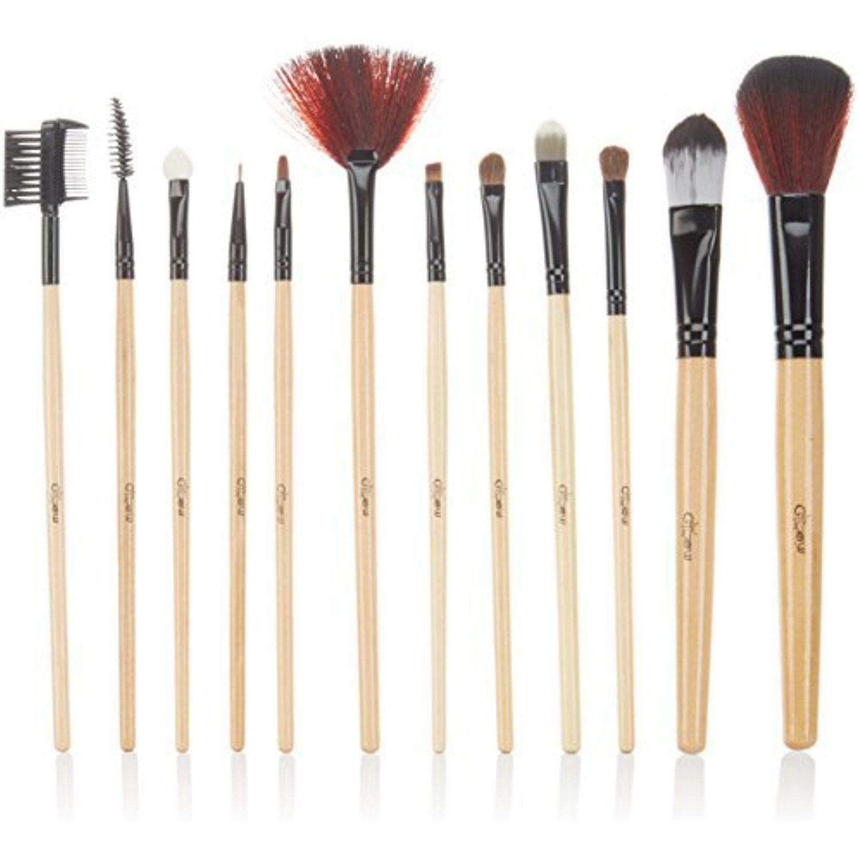 Glow 12 Pc Professional Makeup Brushes Set in British Flag