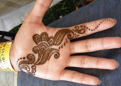 Mehndi Designs For New Learners : Henna designs for hand feet arabic beginners kids men :