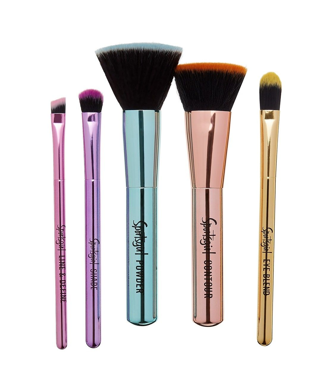 Brush With Fame Metallic Brush Set Brush Brush Set Makeup Vault
