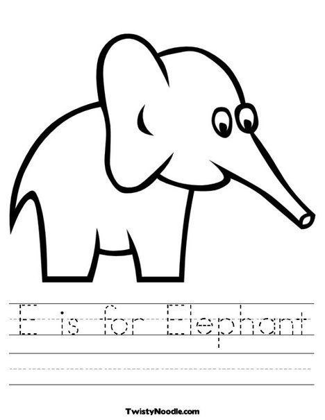 E is for Elephant Safari Worksheet | Animals in the Wild Themed ...