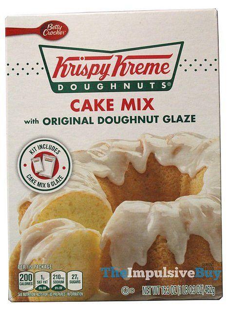 Betty Crocker Krispy Kreme Doughnuts Cake Mix with Original Doughnut