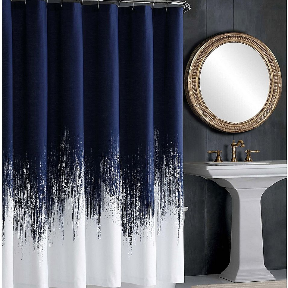 Vince Camuto Lyon Shower Curtain In Blue Blue Shower Curtains