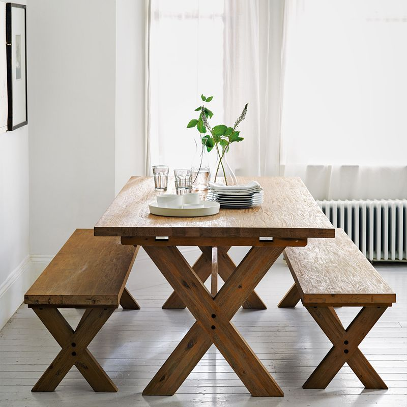 Dining Table With Benches  Someday  Pinterest  John Lewis Interesting Dining Room Furniture John Lewis Design Inspiration