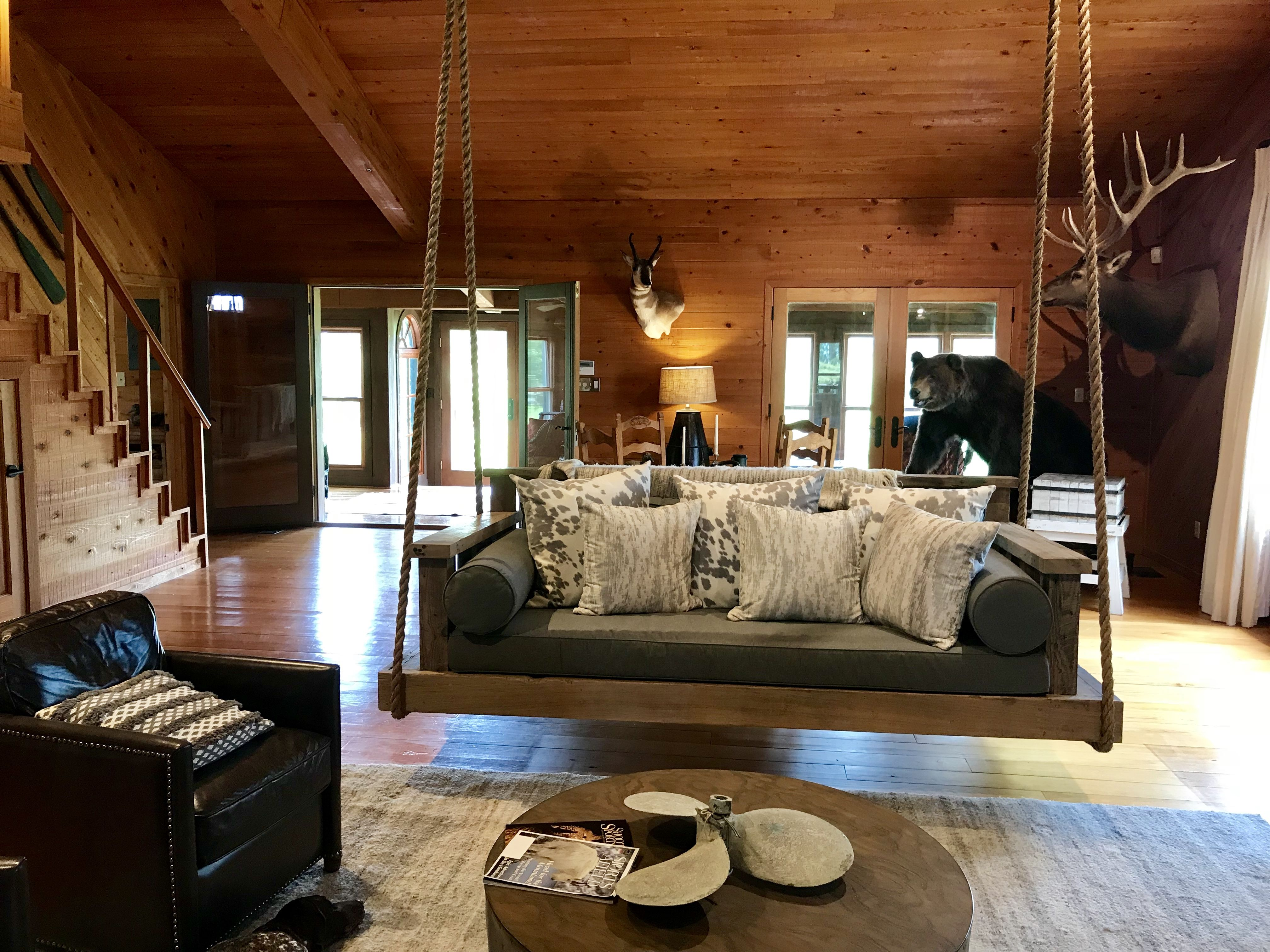 Lakehouse Living Room Couch Swing Couches Living Room Room