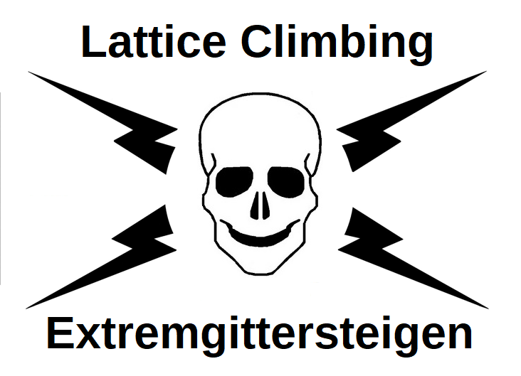 skull from lattice climbing logo pixelgrafik auge vektor