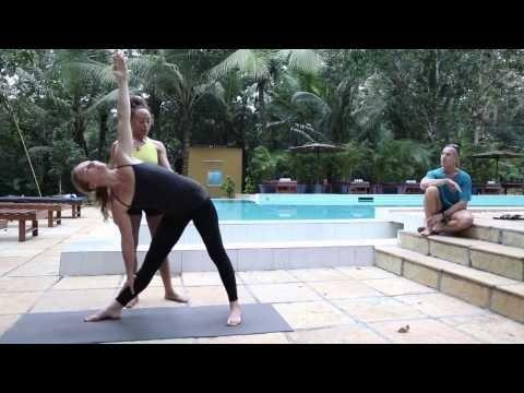 trikonasana ashtanga yoga with laruga glaser  ashtanga