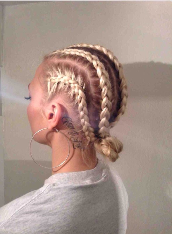 Ghetto Blonde Braids Hair Styles Cornrow Hairstyles White White Girl Braids