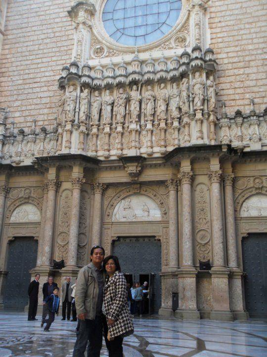 Monestir de Montserrat in Monistrol de Montserrat, Cataluña