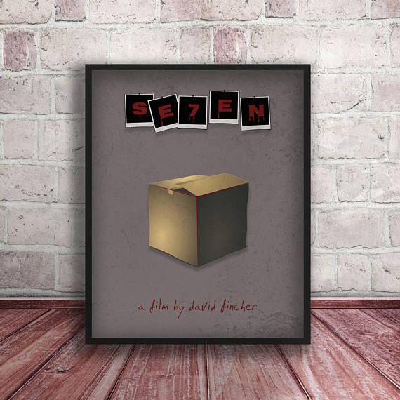 Se7en Poster Print,Minimalistic Movie Poster,Seven-the