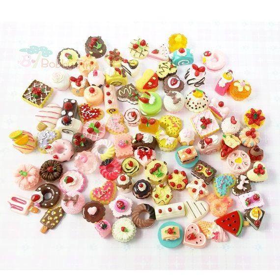 Kawaii Cabochons Grab Bag Random Assortment 20 pieces by BobbyTin