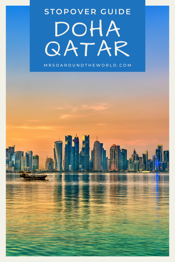 The ultimate travel guide to things to do on a layover in Doha, Qatar. Located along the Persian gulf, Doha is home to beautiful beaches, the National Museum of Qatar, and the Museum of Islamic Art. Tips for making the most of a quick trip to this Middle Eastern capital. | Mrs O Around the World #Travel #Doha #Qatar #DohaQatar #MiddleEast | Doha Qatar Travel