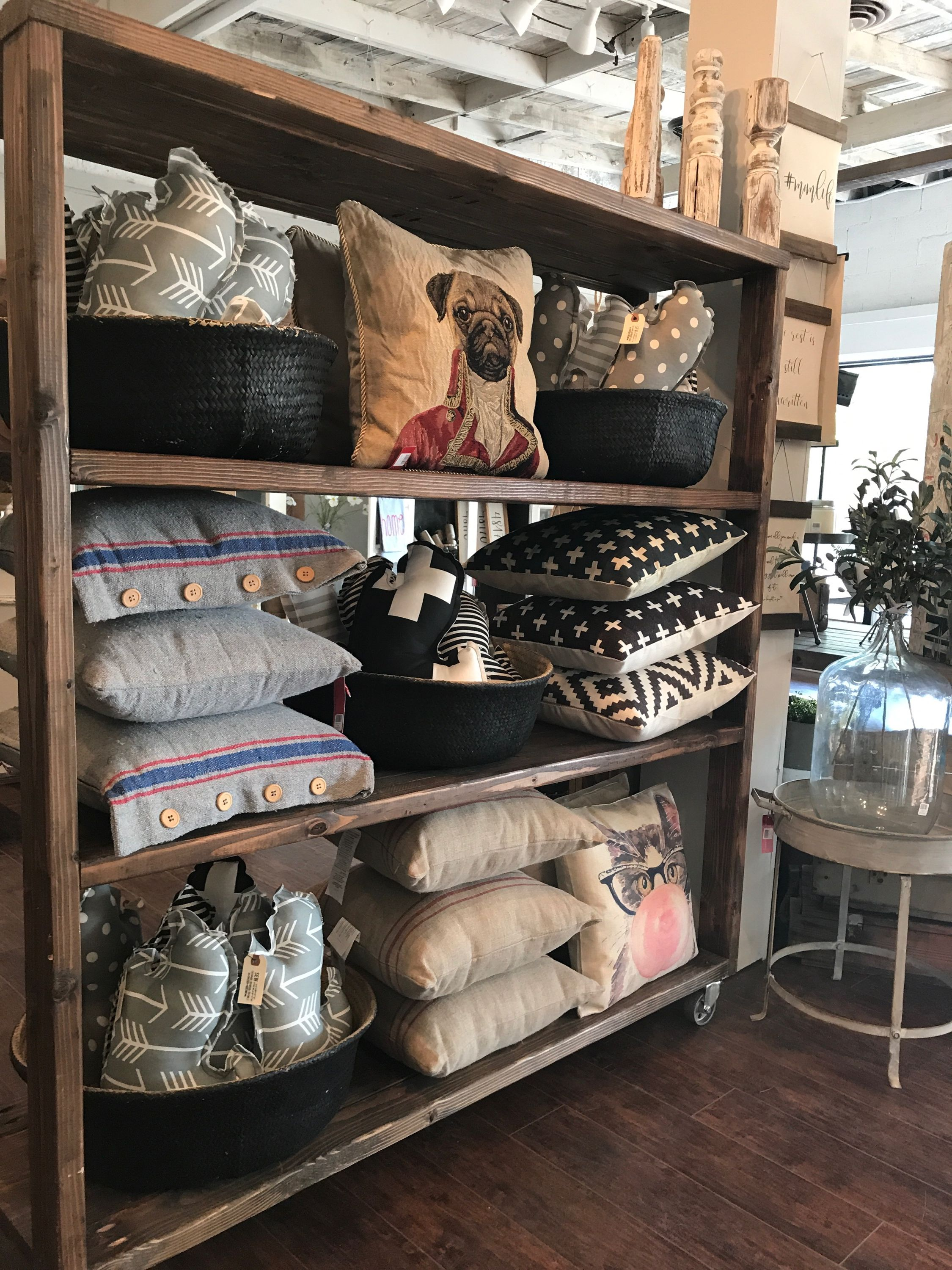 Store Display Pillow Display At Our Store 28th And Chairs In