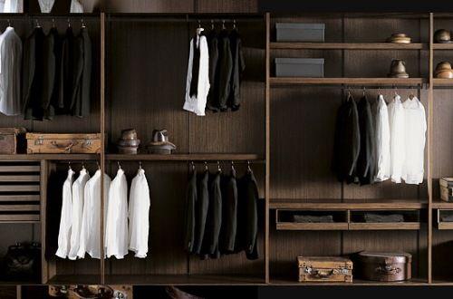 Closets de diseño italiano para los hombres de la casa