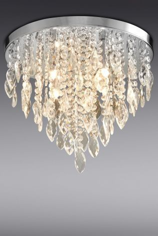 Nothing Says Glamour Like Our Ceiling Light With Clear Droppers